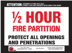 1/2 HR Fire Partition QTY: 1-99