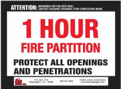 1 HR Fire Partition QTY: 250+