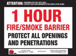 1 HR Fire/Smoke Barrier QTY: 250+