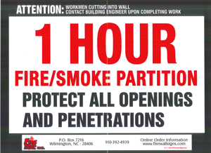 1 HR Fire Smoke Partition QTY: 1-99