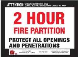 2 HR Fire Partition QTY: 250+