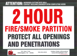 2 HR Fire Smoke Partition QTY: 100-249