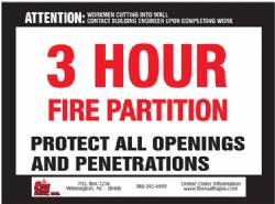 3 HR Fire Partition QTY: 250+