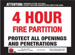 4 Hour Fire Partition - QTY: 250+