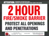 2 HR Fire Smoke Barrier QTY: 250+